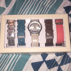 A watch with different bands